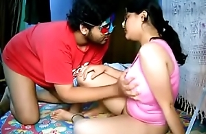 Broad in the beam Boob Indian Bhabhi Savita Fingering Cookie And Fucked Yon Missionary Style