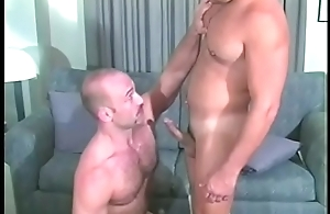 Hot plank plowing boyfriend'_s ass and giving him anal cumshot jibe BJ