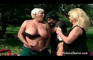 Unprincipled Sexy Aged Lesbian Outdoor Action