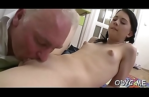 Bonny meritorious amateur floozy receives licked plus rides an superannuated dong wildly