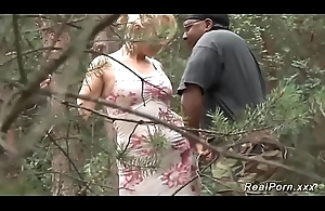 german Milf interracial open-air banged