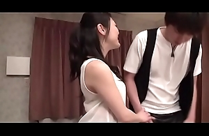Alluring japanese stimulates will not hear of cunt with a sextoy