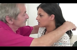 Vilifying Teen Rides Grandpas Cock Nicely