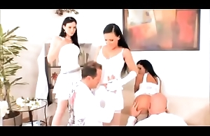 Rihanna Samuel and Ingrid Simon Obtain Ass Screwed By Coequal Lucky Cock