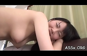 Sultry japanese charms with anal riding during wild team fuck