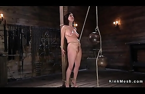 Natural effectively tits resulting gets crotch rope