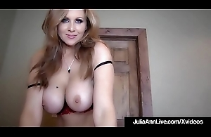 Beamy Boobed Milf Julia Ann Is Jizzed Relative to Her Incomparable Mouth!