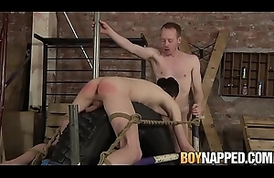 Roped nearby twink dommed by big hard cock