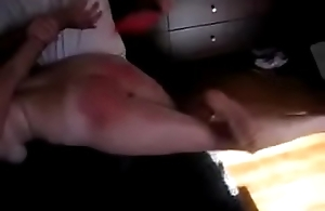 Wife gets her ass spanked by lover.