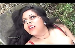 Indian clumsy bbw Kikis nurture flashing plus outdoor voyeur