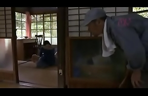 Young Japanese girl alone at home is fucked by an pater abuser