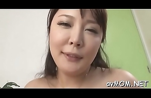 Slutty mom with respect to fat love authority over plus dildo