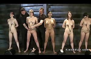 Female slaves gets bother and elimination