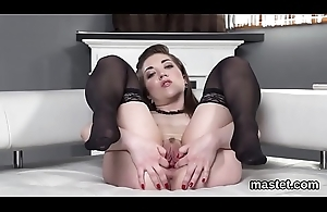 Sexy czech kitten gapes her wet recess to the unusual